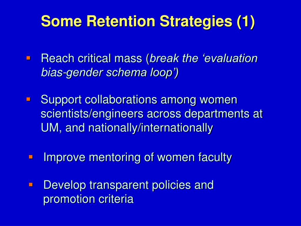 Some Retention Strategies (1)