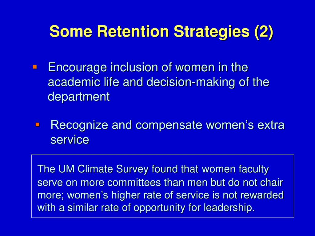 Some Retention Strategies (2)