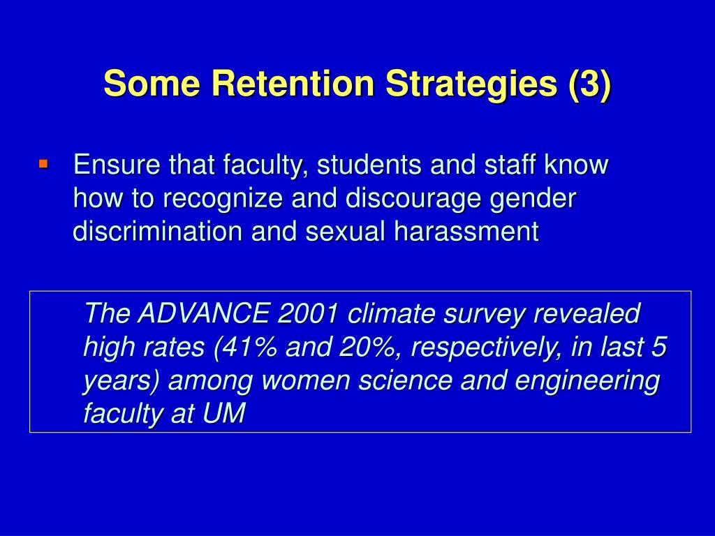 Some Retention Strategies (3)