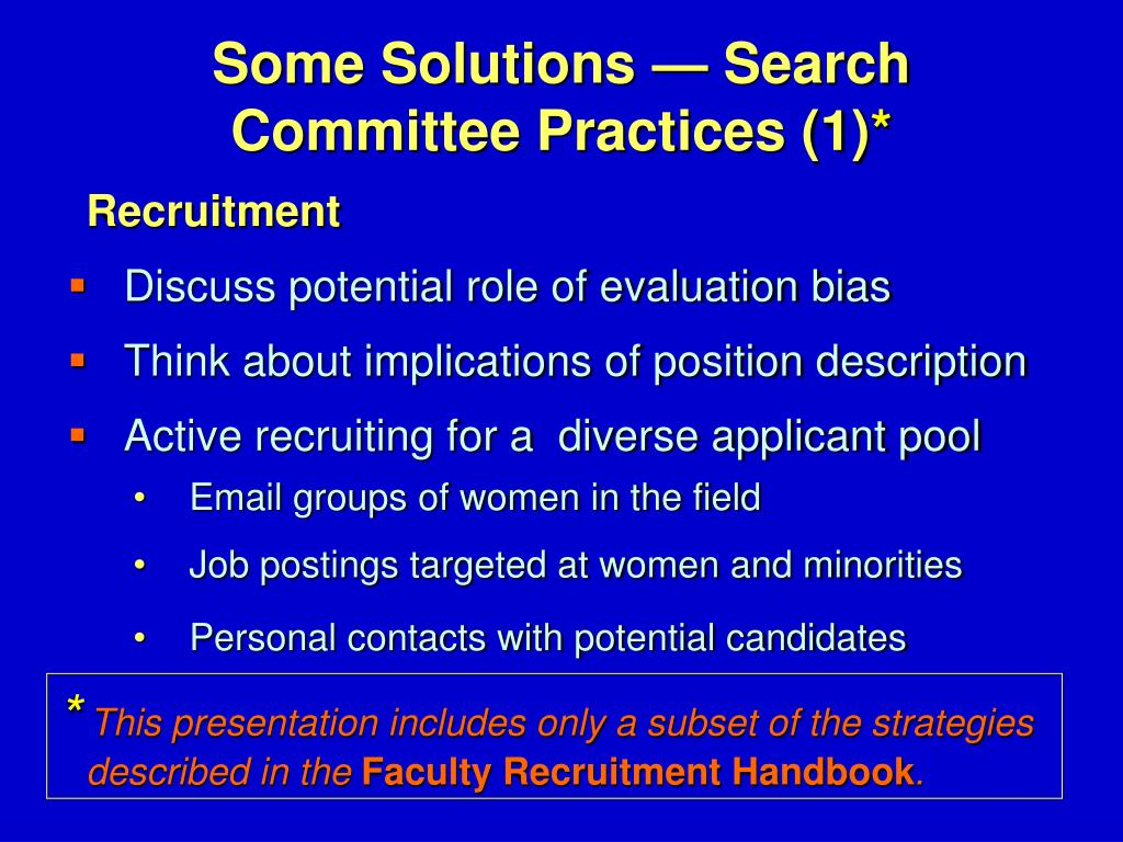 Discuss potential role of evaluation bias