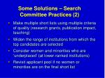some solutions search committee practices 2