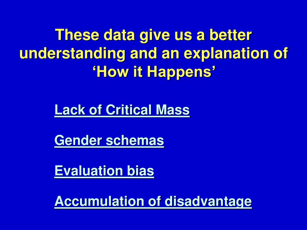Lack of Critical Mass