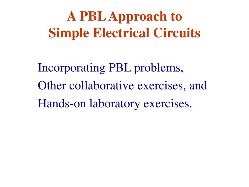 A PBL Approach to