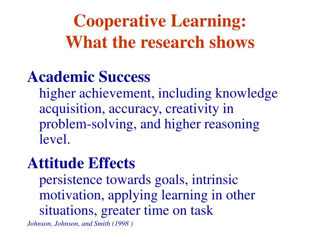 Cooperative Learning: