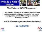 what is a first mentor