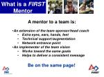 what is a first mentor6