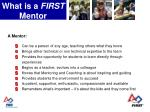 what is a first mentor7