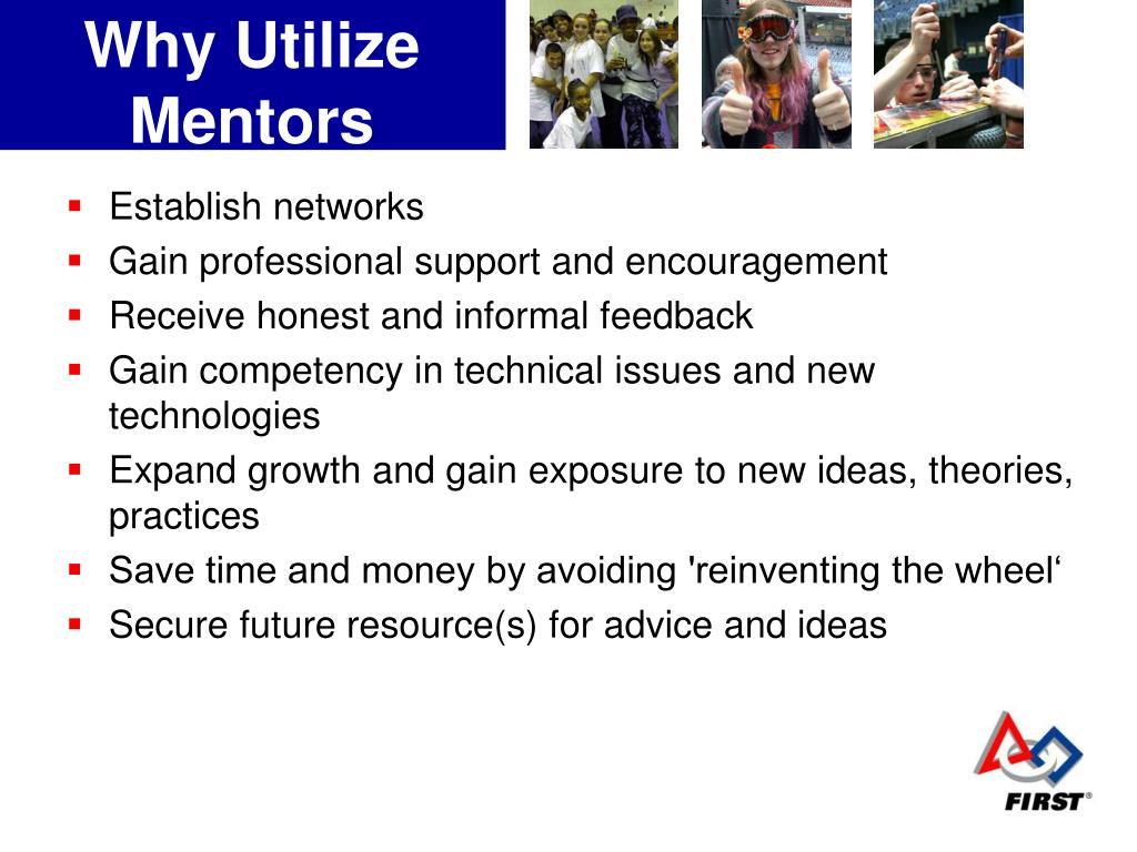 Why Utilize Mentors