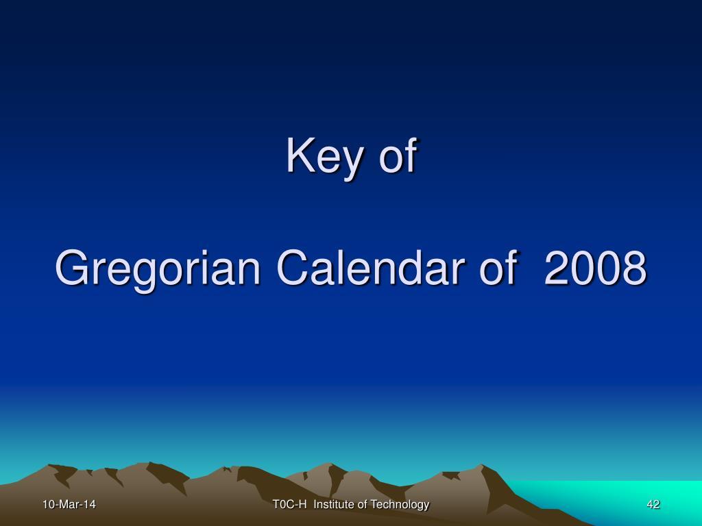 Key of