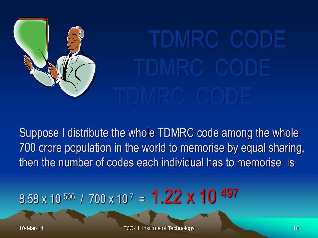 TDMRC  CODE