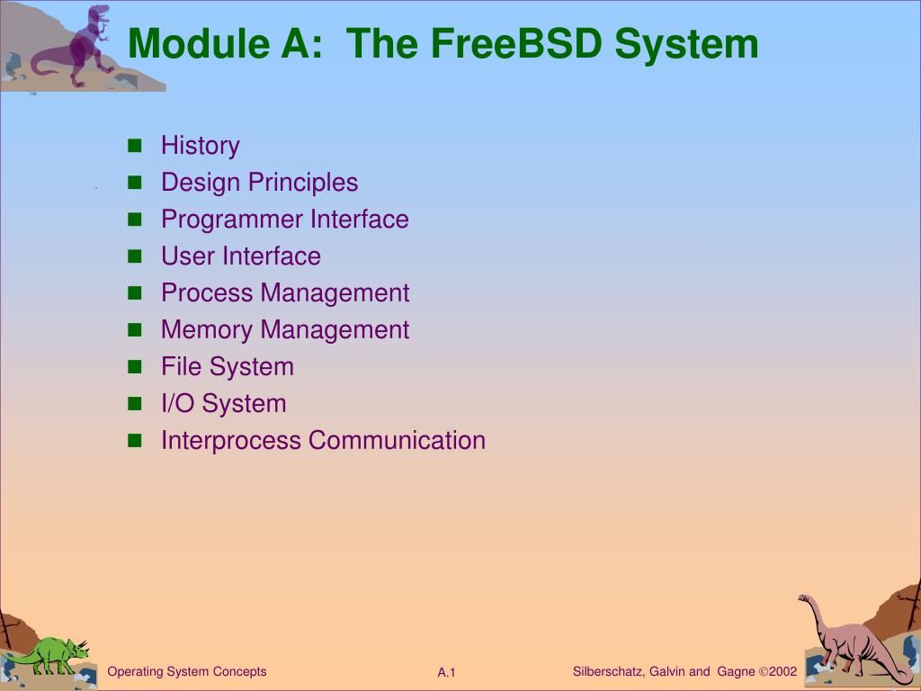 module a the freebsd system l.
