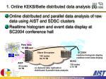 1 online kekb belle distributed data analysis 1