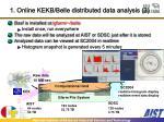 1 online kekb belle distributed data analysis 3
