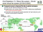 grid datafarm 1 gfarm file system world wide virtual file system ccgrid 2002