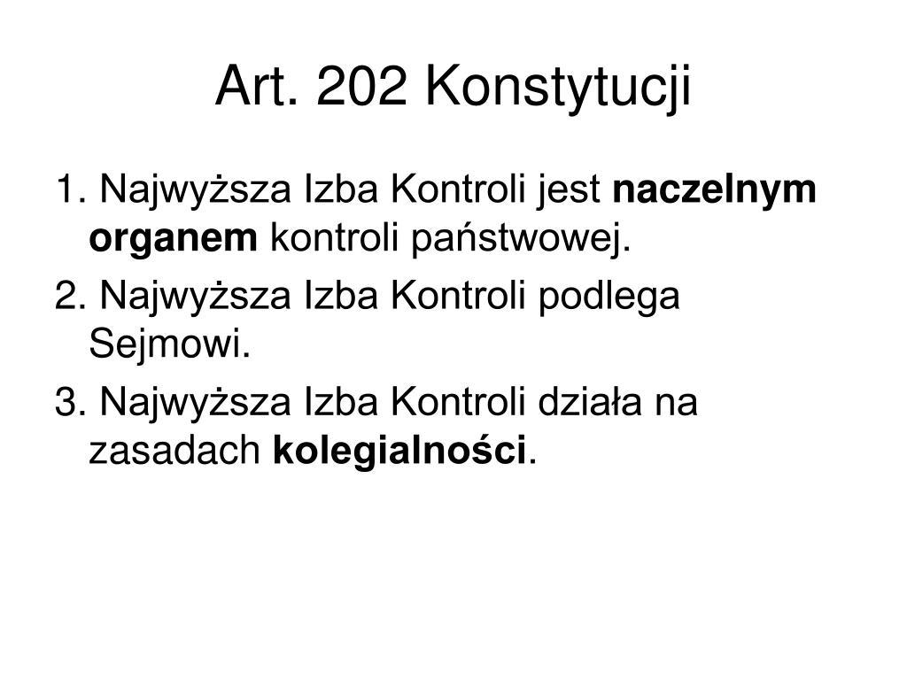 Art. 202 Konstytucji