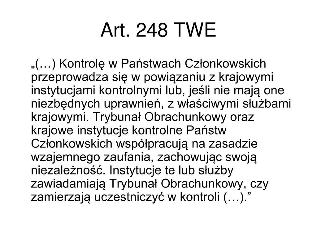 Art. 248 TWE