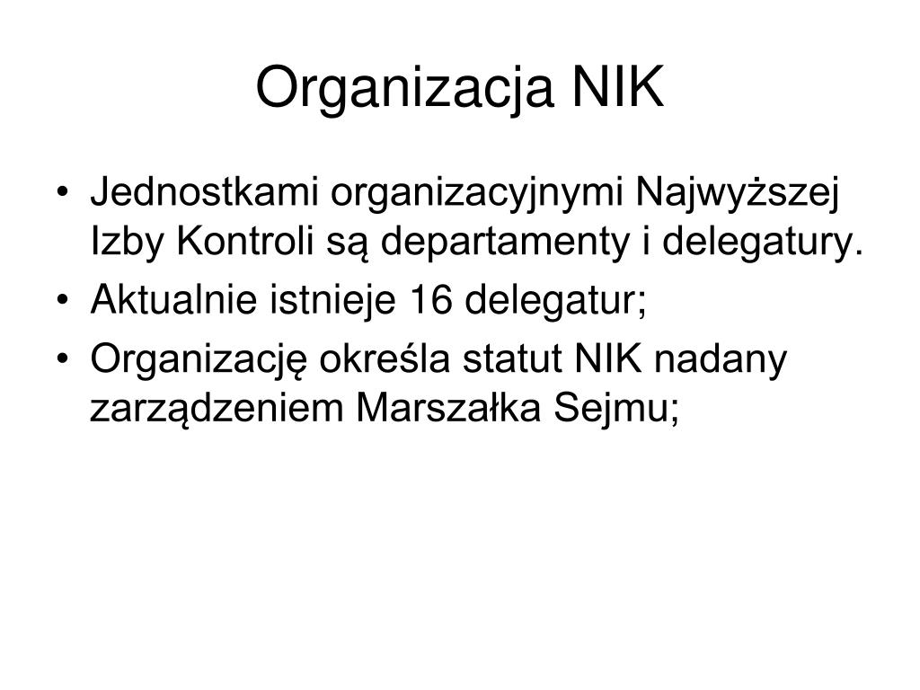 Organizacja NIK