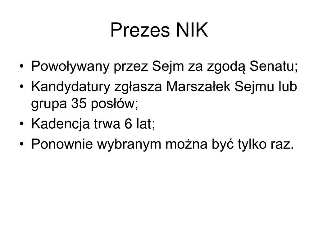 Prezes NIK