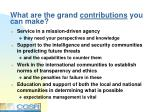 what are the grand contributions you can make