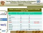 global competitiveness and innovation rankings out of 134