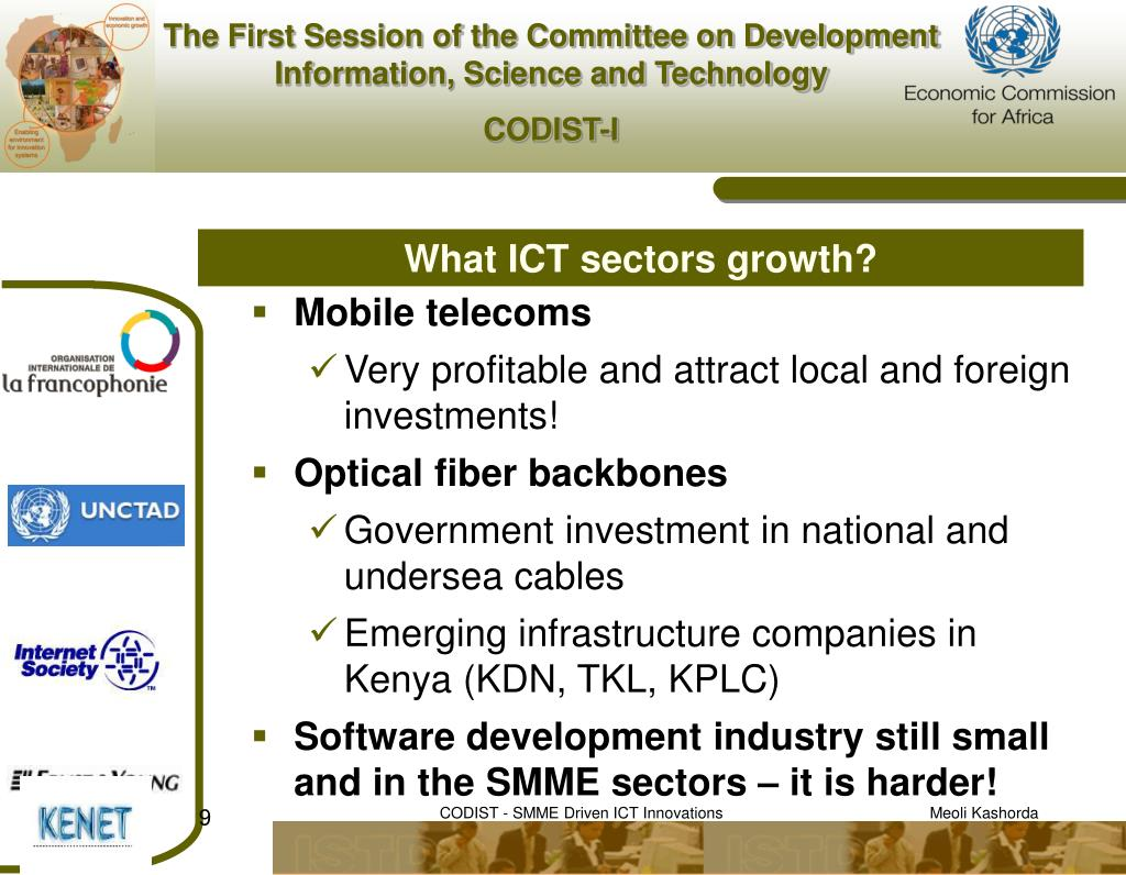 What ICT sectors growth?