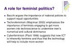 a role for feminist politics