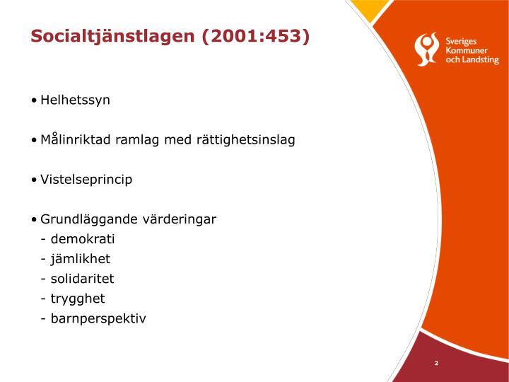 Socialtj nstlagen 2001 453