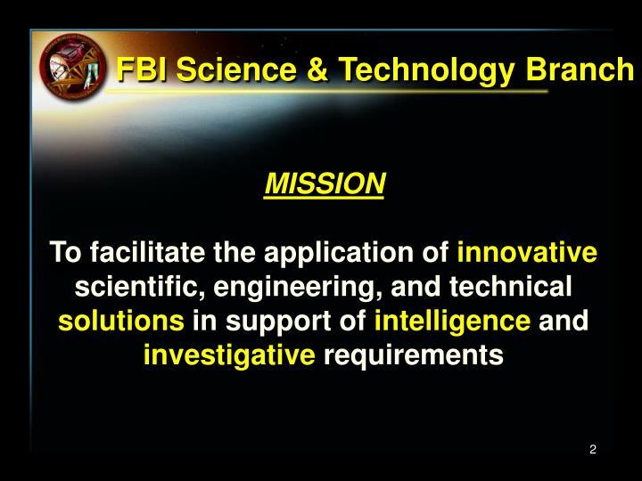 Fbi science technology branch