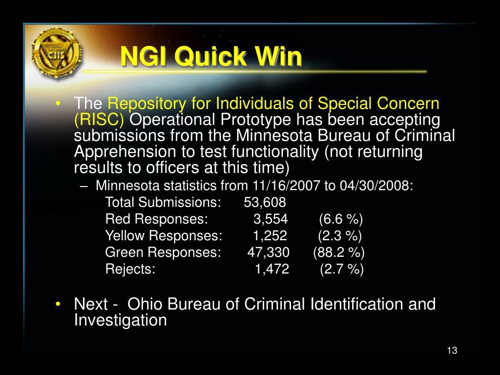 NGI Quick Win