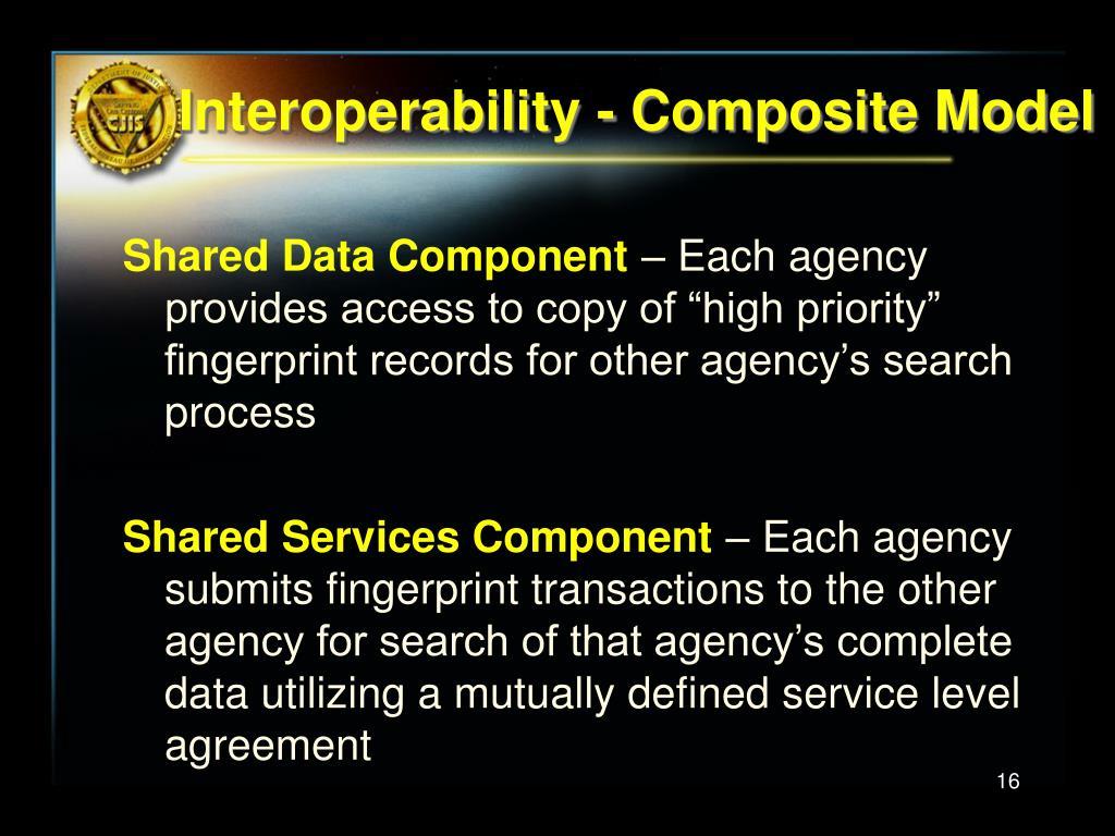 Interoperability - Composite Model