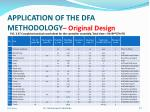 application of the dfa methodology original design1
