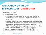 application of the dfa methodology original design2