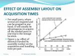 effect of assembly layout on acquisition times2