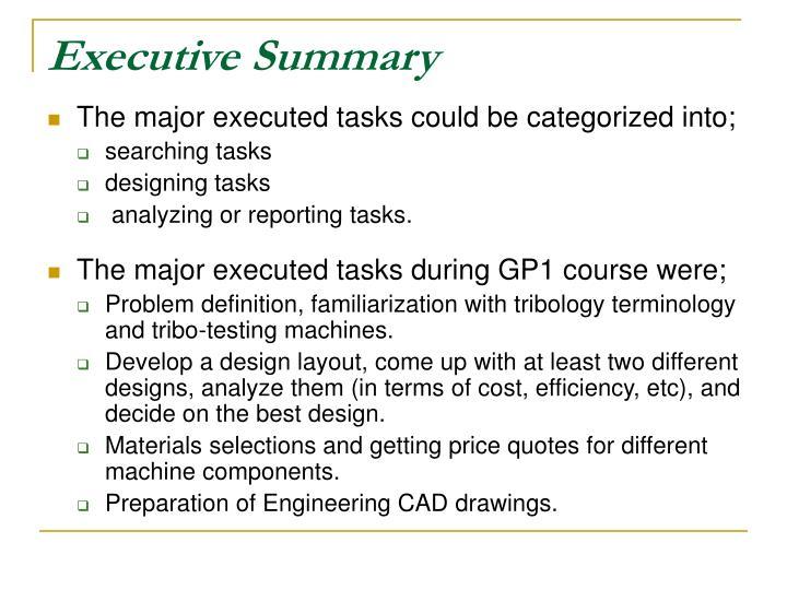 Executive summary3