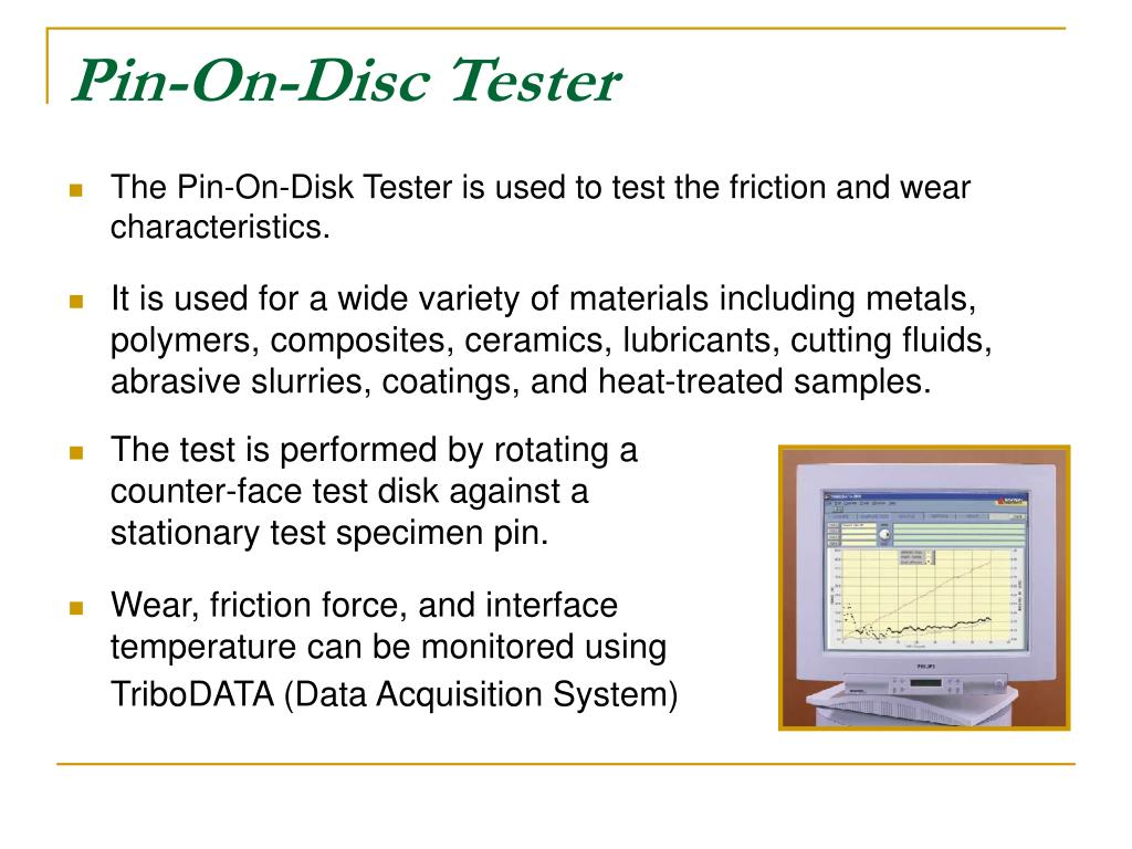 Pin-On-Disc Tester