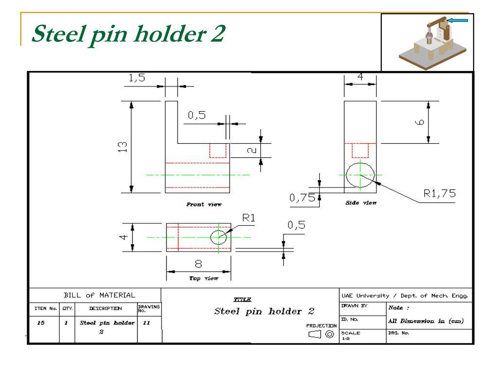 Steel pin holder 2