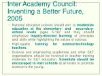 inter academy council inventing a better future 2005