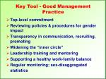 key tool good management practice