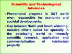 scientific and technological advances