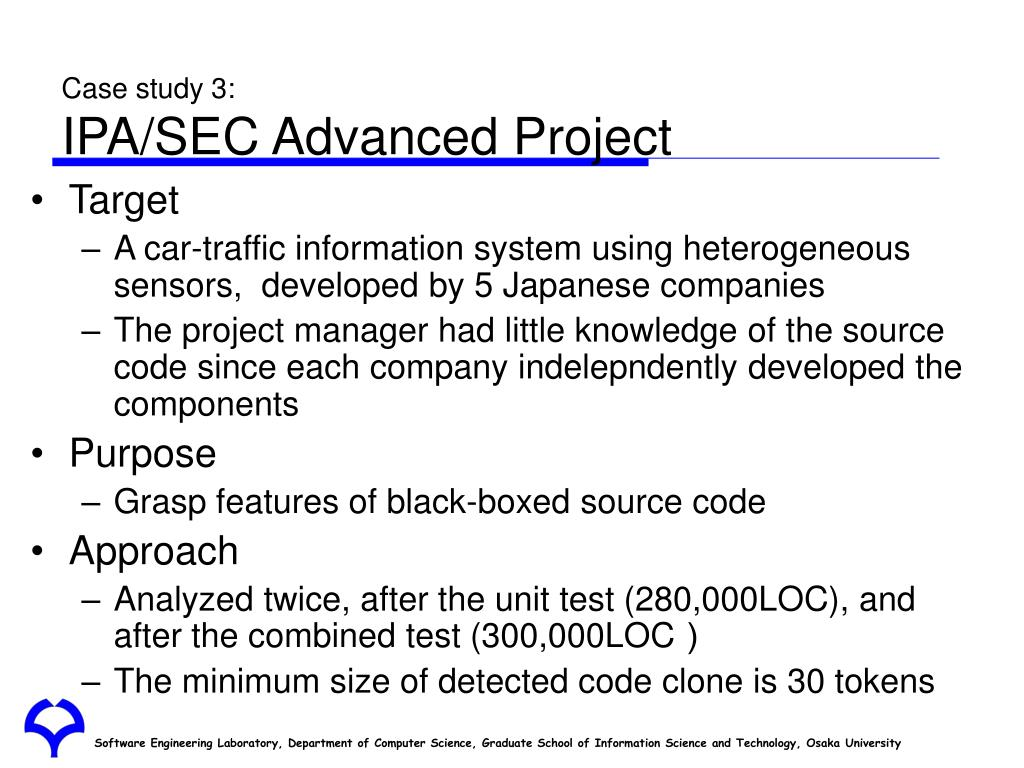 Case study 3: