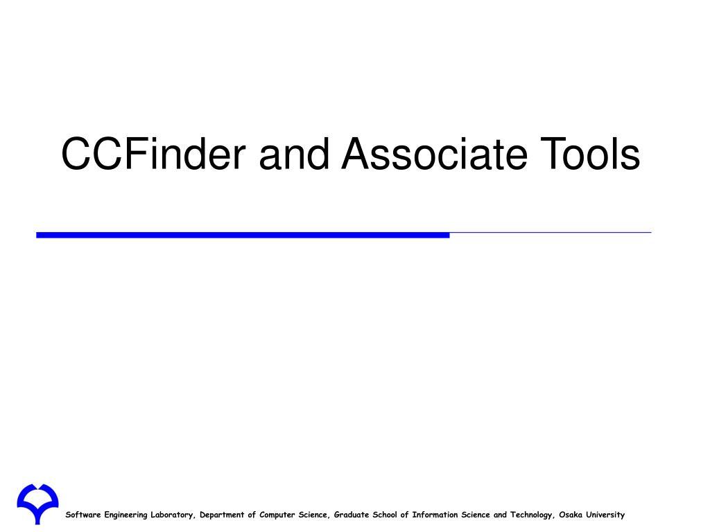 CCFinder and Associate Tools