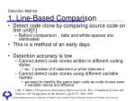 detection method 1 line based comparison