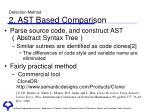 detection method 2 ast based comparison