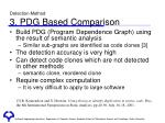 detection method 3 pdg based comparison