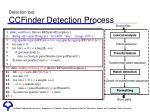 detection tool ccfinder detection process