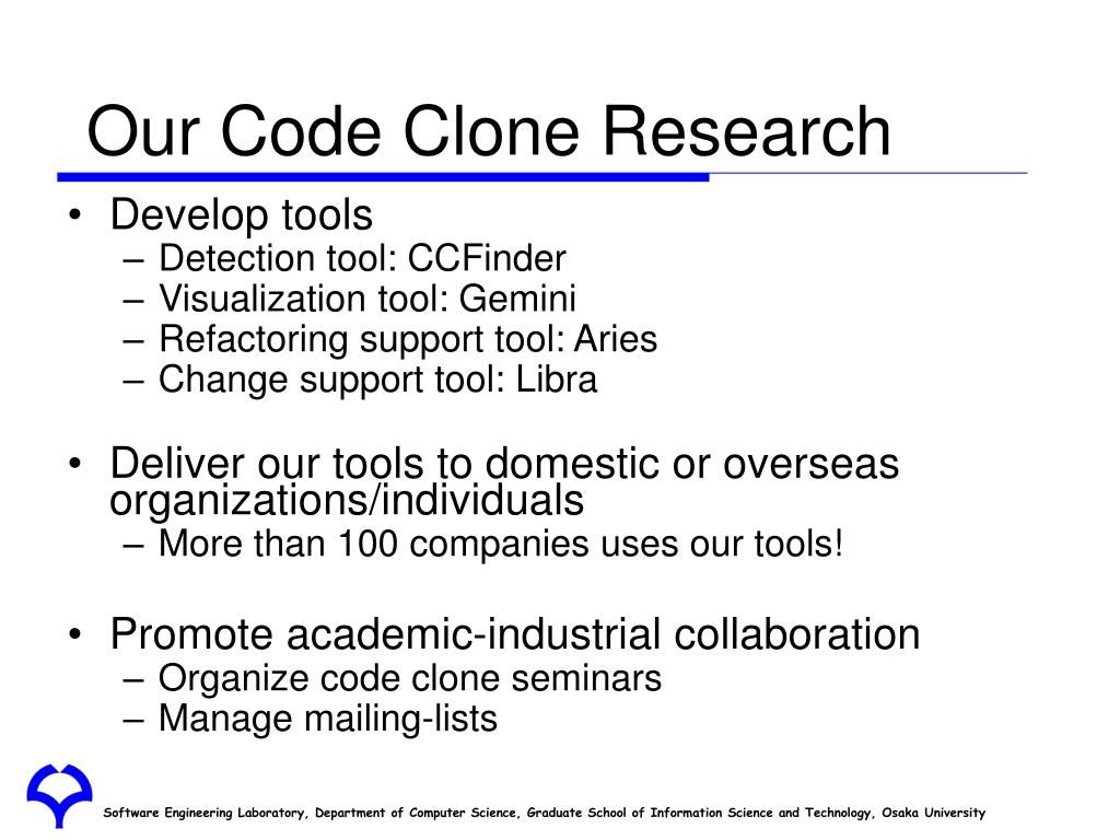Our Code Clone Research