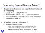 refactoring support system aries 1