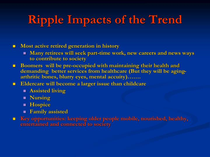 Ripple Impacts of the Trend