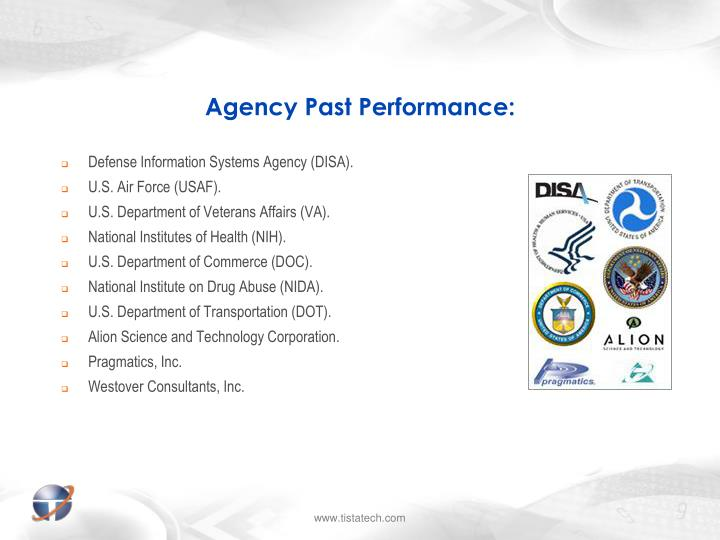 Agency past performance