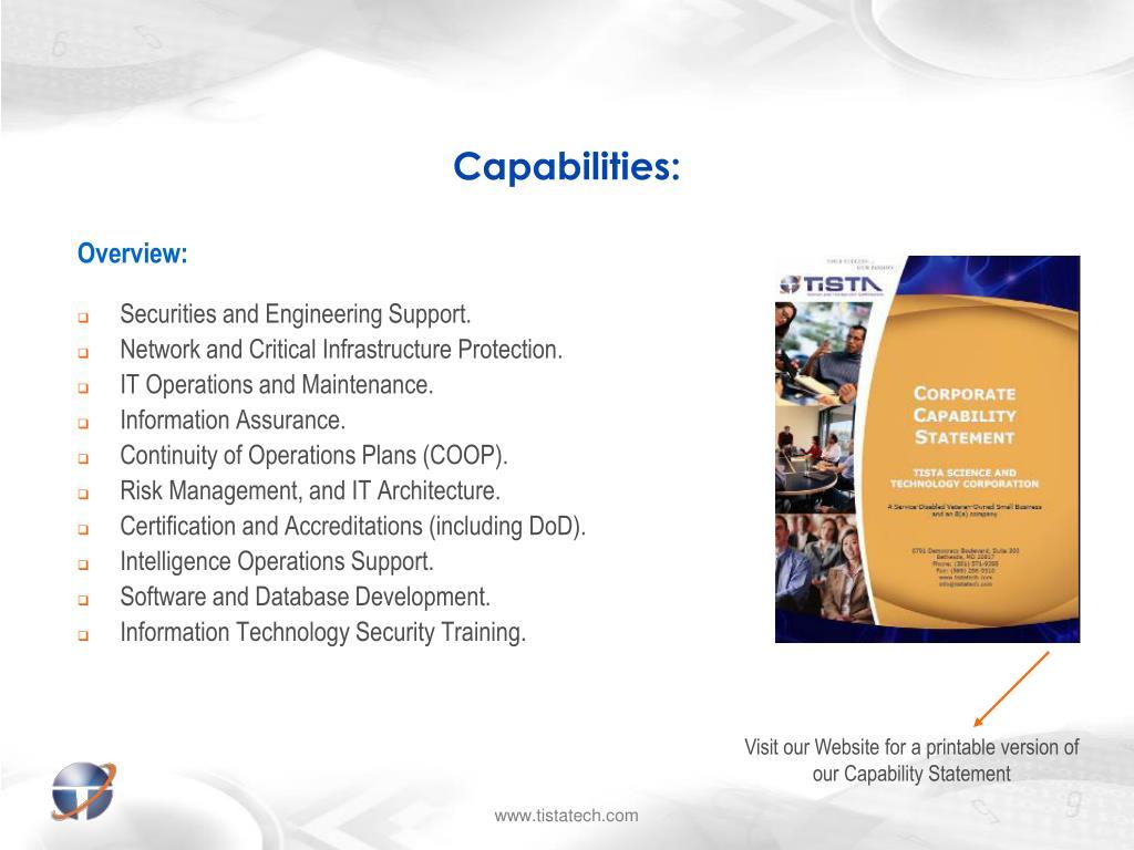 Capabilities: